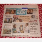 USA TODAY February 20 2008 Wednesday Newspaper CASTRO RESIGNS Blu-ray wins $100 barrel oil