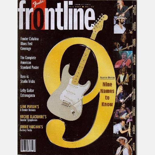 FENDER FRONTLINE Fall 1997 Magazine Vol 23 GENE PARSON Ritchie Blackmore JIMMIE VAUGHAN  Tom Dumont