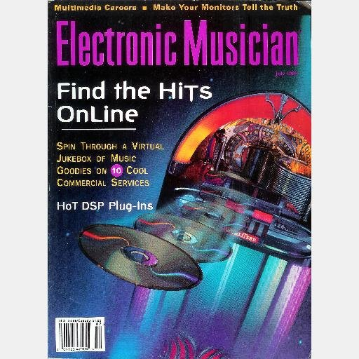 ELECTRONIC MUSICIAN July 1995 Magazine Harvey Wallbangers MIDI Generalmusix SX EMAGIC Soundiver 1.5