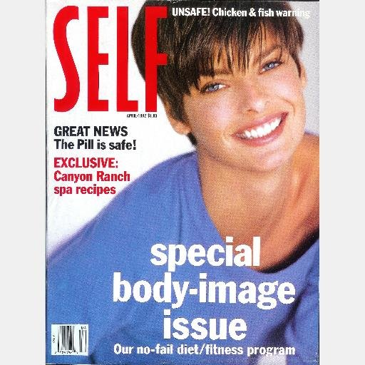 SELF Magazine APRIL 1992 LINDA EVANGELISTA cover