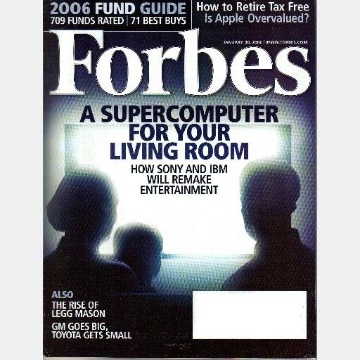 FORBES January 30 2006 Magazine SUPERCOMPUTER Sony IBM LEGG MASON 2006 Fund Guide
