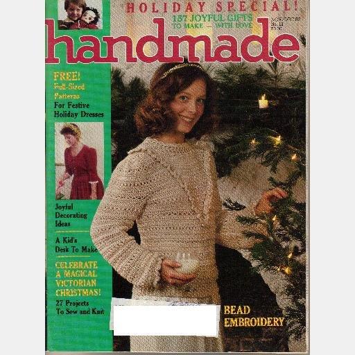 HANDMADE November December 1983 No 11 Magazine Lark Comm Bead Embroidery Jewelry