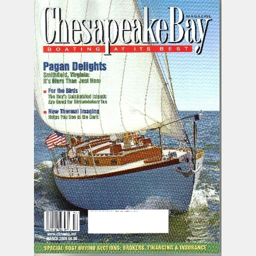 CHESAPEAKE BAY March 2008 Magazine Pagan River Smithfield Cork Eastern Shore Harry Armistead