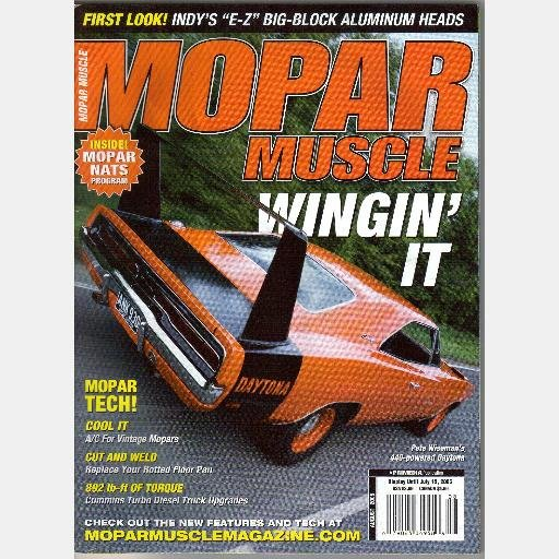 MOPAR MUSCLE August 2005 Magazine E Z big block aluminum heads 440 Red Daytona