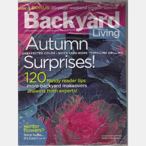 BACKYARD LIVING November December 2005 Magazine Winter Flowers 120 Handy Reader Tips