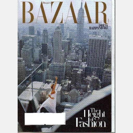 HARPER'S BAZAAR FEBRUARY 2007 Magazine Drew Barrymore New York NYC Cover Isabel Rubin Toledo
