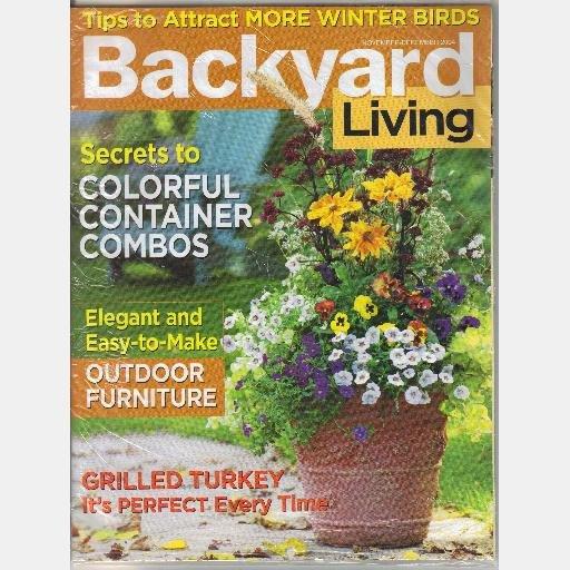 BACKYARD LIVING November December 2004 Winter Birds Grilled Turkey Magazine Back Issue