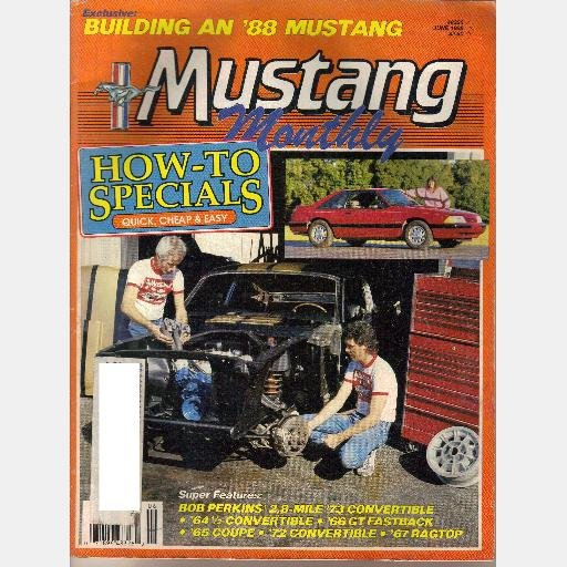 MUSTANG MONTHLY June 1988 Magazine Dearborn MI assembly plant 64 1/2 convertible 66 GT Fastback