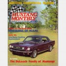 MUSTANG MONTHLY September 1984 Magazine Burgundy 1966 Mustang Coupe*DeLoach Mustangs*Distributors