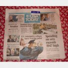 USA TODAY July 23 2008 Wednesday Newspaper David Beckham LA Tropical Storm Dolly X-Files