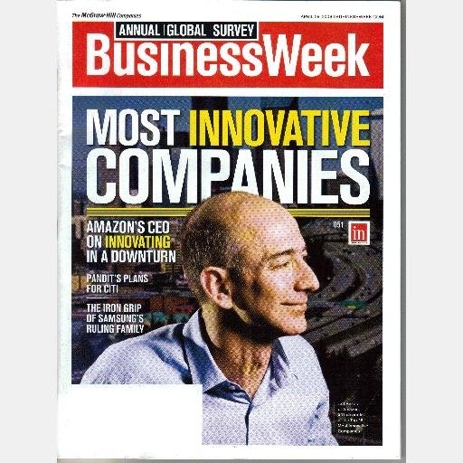 BUSINESS WEEK BUSINESSWEEK APRIL 28 2008 Magazine Most Innovative Companies Jeff Bezos Amazon