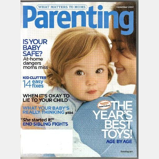 PARENTING November 2007 Magazine Kid Clutter No More Sibling Rivalry
