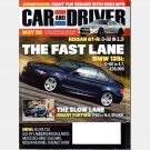CAR AND DRIVER May 2008 Magazine BMW 135i Nissan GT-R SMART FORTWO Acura TSX Lamborghini GALLARDO