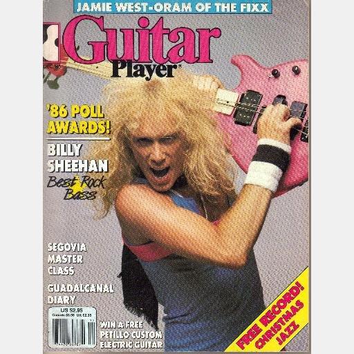 GUITAR PLAYER DECEMBER 1986 Magazine BILLY SHEEHAN Jamie West-Oram Fixx Marty Stuart