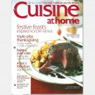 CUISINE AT HOME No 66 December 2007 Magazine YULE CAKE Pumpkin Cheesecake