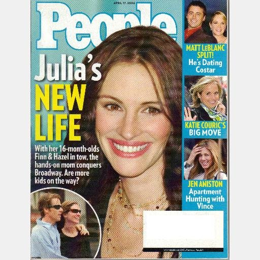 Buy people magazine - People Magazine April 17 2006 Julia Roberts New Life Matt Leblanc Jen