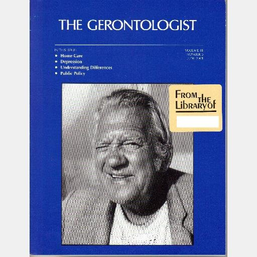 THE GERONTOLOGIST journal June 2001 Vol 41 No 3 Depression Paranoid ideation mismanaging medications