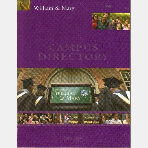 COLLEGE of WILLIAM AND MARY Campus Directory 2004-2005 Williamsburg VA Virginia