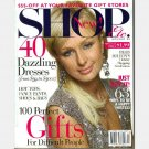 SHOP ETC Magazine December 2005 January 2006 Holiday PARIS HILTON COVER