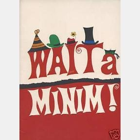 WAIT A MINIM Play 1966 SOUVENIR PROGRAM SOUTH AFRICA MUSICAL GOLDEN THEATRE PAUL ANDREW TRACY