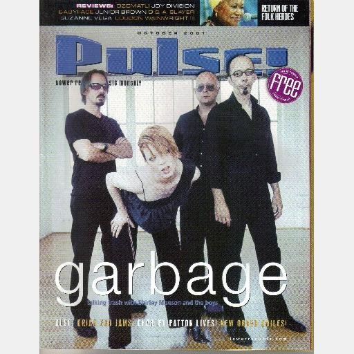 TOWER RECORDS PULSE October 2001 Magazine GARBAGE Shirley Manson BRIAN ENO Charley Patton NEW ORDER
