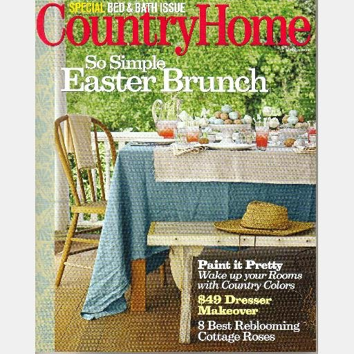COUNTRY HOME Magazine March 2008 Paint Reblooming Roses Laura Bohn Richard Fiore Bucks County PA