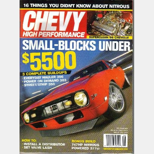 Chevy High Performance September 2006 Magazine Bill Unruth ProCharger 68 Camero 72 Nova Chris Alston