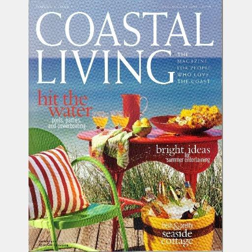 COASTAL LIVING July August 2004 Magazine Moshe Aelyon Montecito Cottage Stonington Market