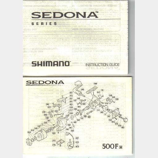 SHIMANO SEDONA Reel series INSTRUCTION GUIDE Parts List Diagram 500F 1000F 2000F 4000F 6000F