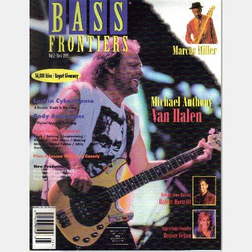 BASS FRONTIERS Vol 2 No 4 1995 Magazine MICHAEL ANTHONY VAN HALEN Robert Hurst BEAVER FELTON