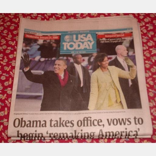 USA Today January 21 2009 Wednesday Newspaper Barack Obama inauguration Special Issue