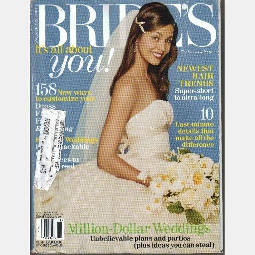 BRIDES November December 2004 magazine Colin Cowie Preston Bailey LUXURY EDITION