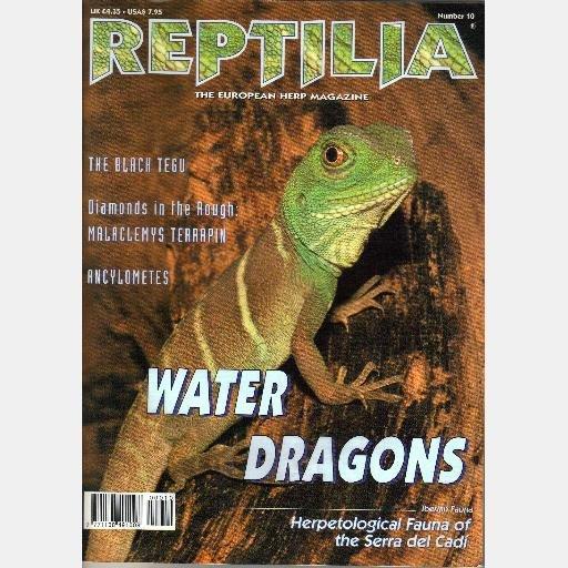REPTILIA European Herp Magazine January 2000 Number 10 BLACK TEGU Malaclemys Terrapin WATER DRAGONS