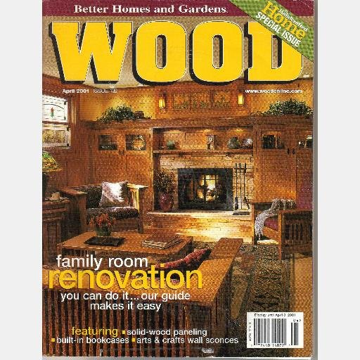 WOOD April 2001 132 Magazine BETTER HOMES Pivoting Picture Frame Desert Dustbin Woodworking Vermont
