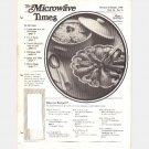 THE MICROWAVE TIMES Magazine 5 issues 1985 1986 Vol 11 12 Recipes Unlimited Janet Sadlock