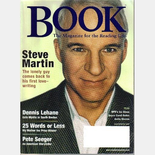 BOOK March April 2001 Magazine STEVE MARTIN Dennis Lehane PETE SEEGER Anita Schreve IRA GLASS