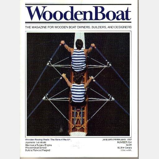 WOODENBOAT Wooden Boat Magazine 1997 LOT 4 Rowing Shells Japanese Tub Draketail Birchbark Canoes