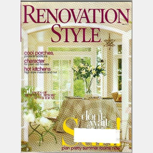 RENOVATION STYLE Magazine May 2002 Ernest Hemingway OAK PARK IL House James Wright Atlanta