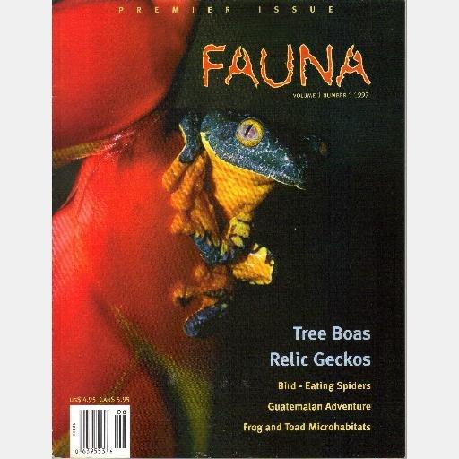 FAUNA June July 1997 Magazine Premier Issue Volume 1 Number 1 Tree Boas Relic Geckos William W Lamar