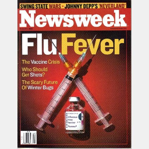 NEWSWEEK November 1 2004 Magazine FLU FEVER Johnny Depp Neverland Jeff Peacock Yosemite Blizzard