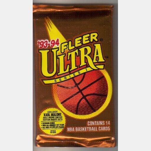 1993 1994 FLEER ULTRA SERIES I  14 NBA Basketball Cards New Sealed Pack