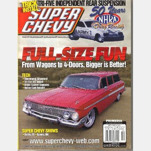SUPER CHEVY October 2001 Magazine Tri Five AC Install 1961 Nomad Steve Edwards 66 Corvette