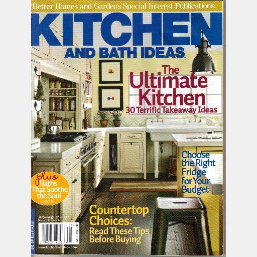 Better Homes Gardens Kitchen And Bath Ideas July August 2007 Special Interest Magazine