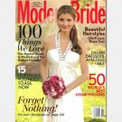 MODERN BRIDE August September 2009 magazine Natural Silk Charmeuse V neck gown Justin Alexander