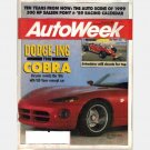 AUTOWEEK January 2 1989 Magazine CHRYSLER DODGE V10 VIPER concept Jody Scheckter SALEEN PONY 300 HP