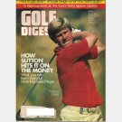 GOLF DIGEST  January 1984 Magazine HAL SUTTON Jack Nicklaus the full swing ALICE MILLER