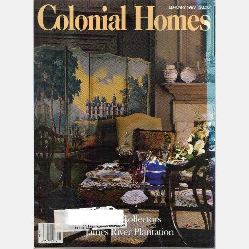 COLONIAL HOMES February 1993 Magazine James River Plantation BRANDON Mount Vernon Temple Learning
