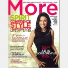 MORE November 2006 Magazine JULIA LOUIS DREYFUS Renee Fleming Natural Hormones Sandy Thompson