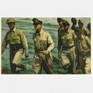 Gen Douglas MaCarthur Memorial Postcard I Shall Return Leyte Oct 1944 Alton S Tobey Norfolk Mural