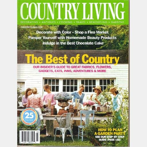 Country living march 2003 magazine vero beach cottage Spring cottage magazine